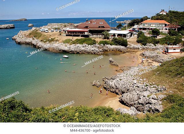 Las Arenillas beach. Santander. Spain