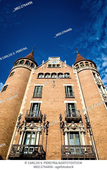 Casa de les Punxes by Josep Puig i Cadafalch in Barcelona Catalonia Spain
