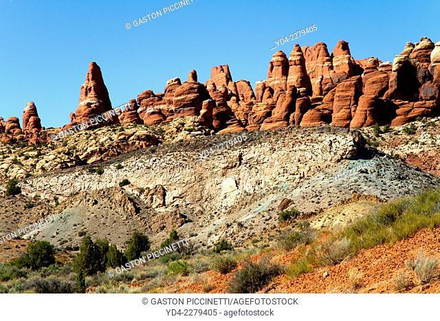 Park Avenue, Arches National Park, Moab, Utah, USA