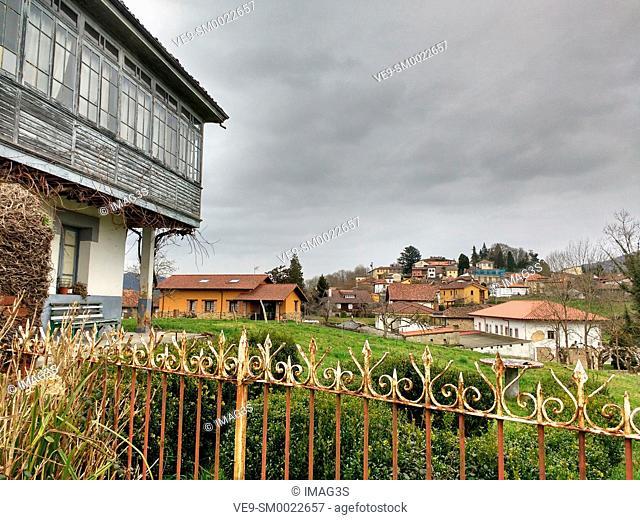 Ceceda village, Nava, Asturias, Spain