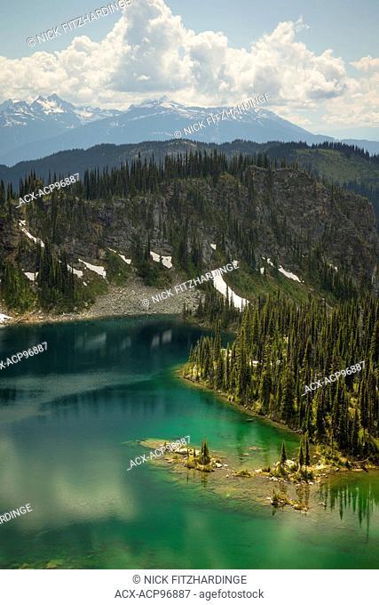 Hidden alpine lake