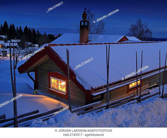 Wintertime, Fryksas, Dalarna, Sweden