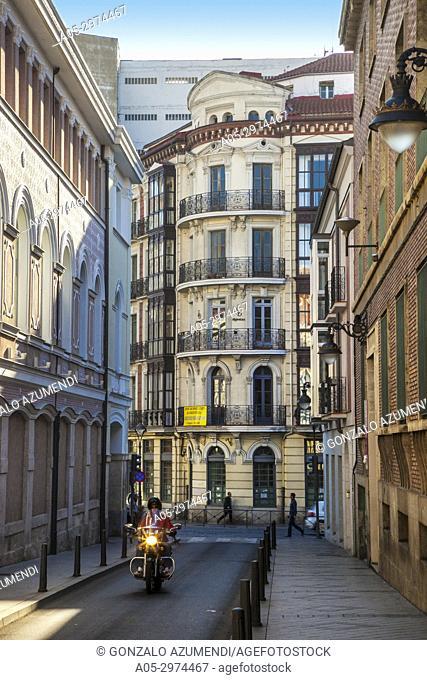Bajada de la Libertad Street, next to cathedral, Valladolid, Castilla y Leon, Spain