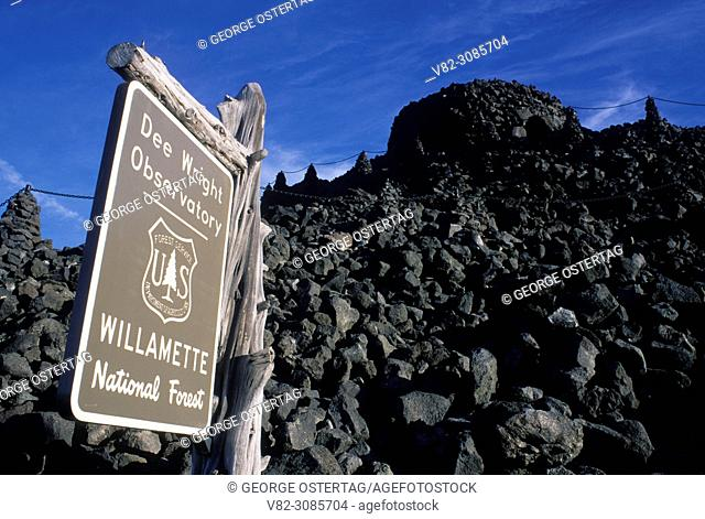 Dee Wright Observatory, McKenzie Pass-Santiam Pass National Scenic Byway, Willamette National Forest, Oregon