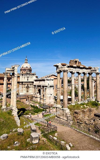 Ruins of Roman Forum, Rome, Lazio, Italy