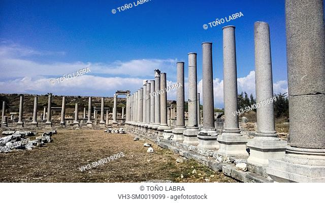 Perge Agora. Old capital of Pamphylia Secunda. Ancient Greece. Asia Minor. Turkey