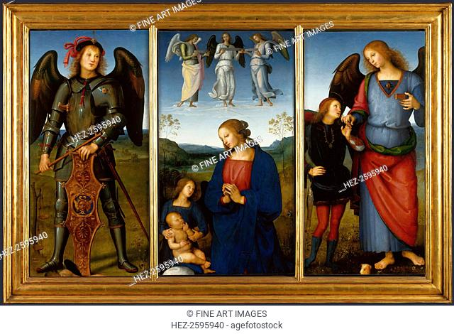 Three Panels from an Altarpiece, Certosa, c. 1500. Found in the collection of the National Gallery, London