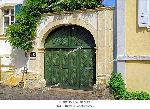 Vineyard, formerly, gate, historically, forest in Weinstrasse Germany
