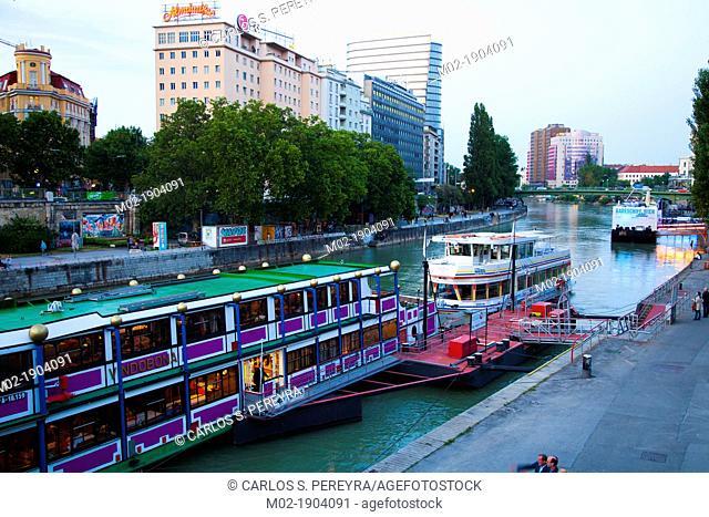 Danube canal in Vienna, Austria