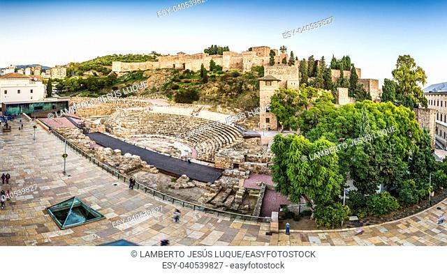 Roman Theater and Alcazaba Citadel in Malaga Spain