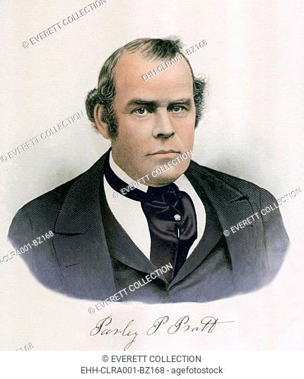 Parley Pratt (1807-1857). He was among Joseph Smith's inner circle during the foundation of the Mormon Church. Pratt practiced polygamy