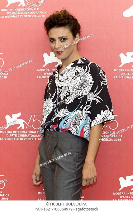 Jasmine Trinca poses at the photo call of 'On My Skin' during the 75nd Venice Film Festival at Palazzo del Casino in Venice, Italy, on 29 August 2018