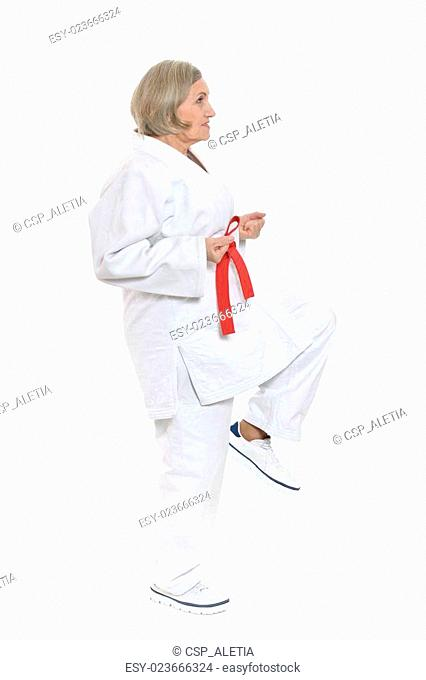 woman in karate pose