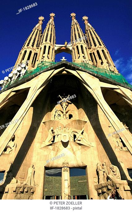 Cathedral Sagrada Familia in Barcelona, Spain