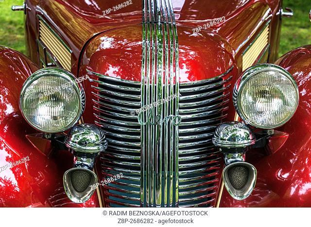 Czechoslovak vintage car Aero 50 cabrio Sodomka, Car production year 1938