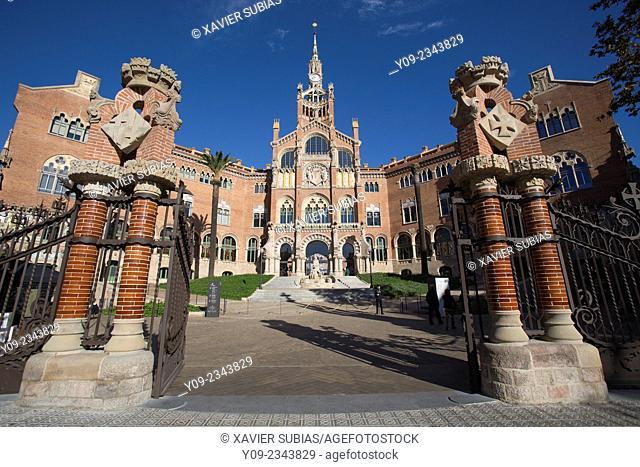 Hospital de Sant Pau, Barcelona, Catalonia, Spain