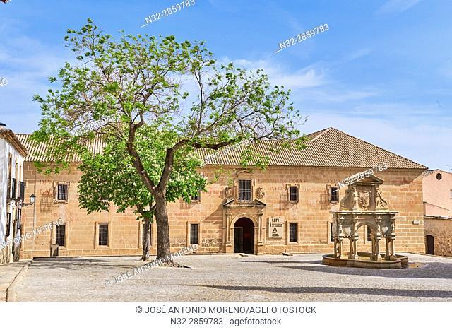 Seminario de San Felipe Neri, Fountain at Santa María's square, Baeza Jaén province, Andalusia Spain