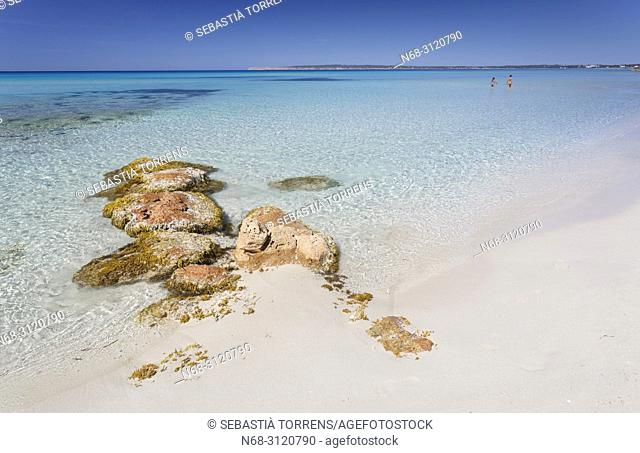 Playa de Migjorn, Formentera, Balearic Islands, Spain