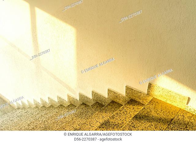 steps and shadow on a wall