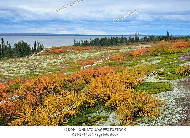 Ennadai Lake in early autumn, Arctic Haven Lodge, Nunavut, Nunavut, Canada