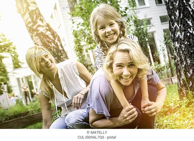 Three generation of women together