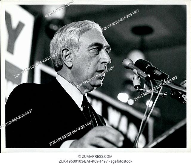 Oct. 27, 1982 - Democratic candidate for the United States Senate seat in New Jersey is won by Frank R. Lautenberg. Mr. Lautenberg