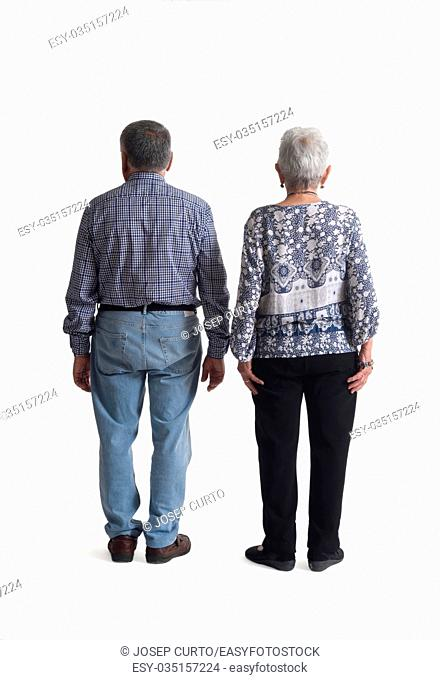 Portrait of a couple full body,rear view