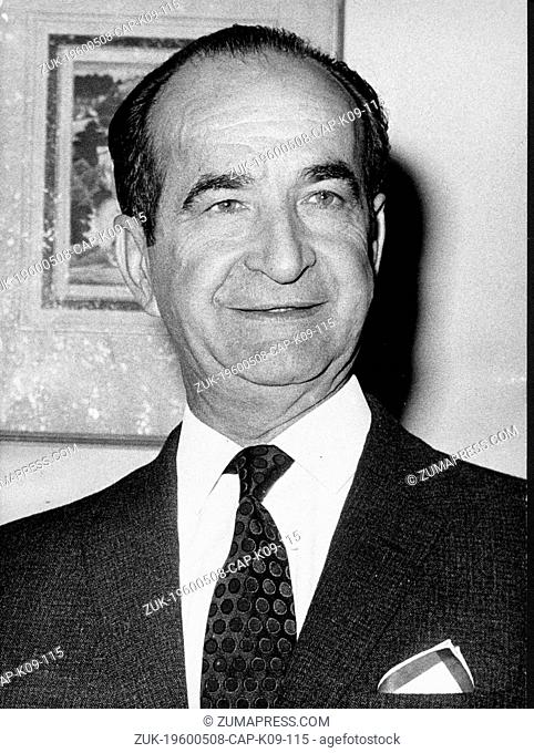 May 8, 1960 - Location Unknown - JOSE FIGUERES FERRER (1906-1990) was the President of Costa Rica for three separate terms