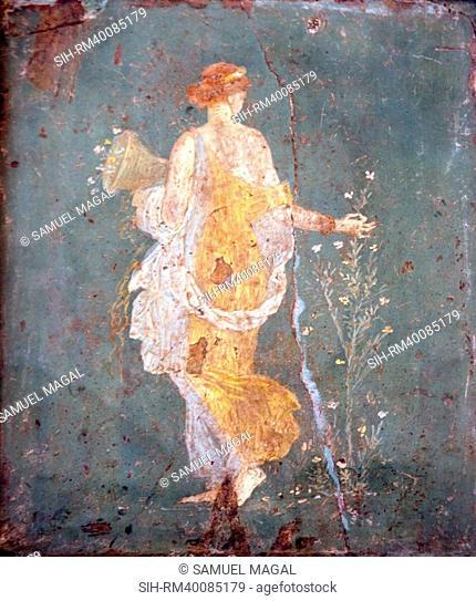 Italy, Naples, Naples Museum, from Stabia, Villa of Varanus or Ariadne, Flora Khloris