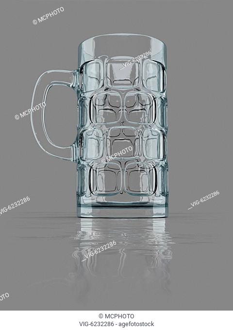 An image of a typical bavarian big beer glass - 01/01/2018