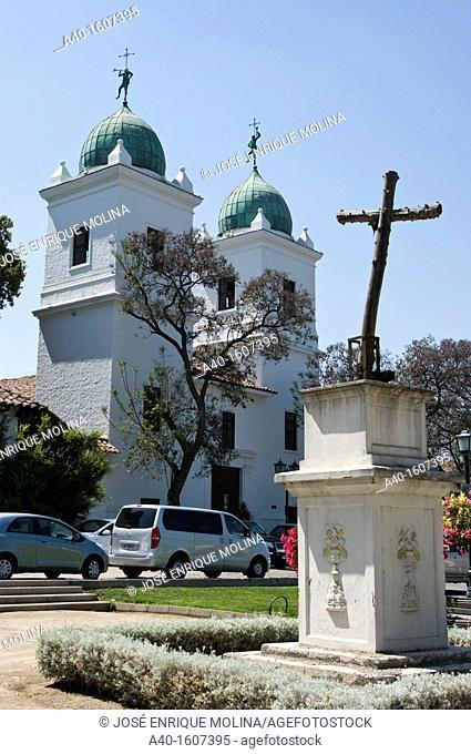 Santiago de Chile city. Church of San Vicente Ferrer in the Los Dominicos. District of Las Condes