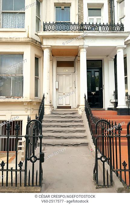 -Facade in Earl's Court Zone- London United Kingdom