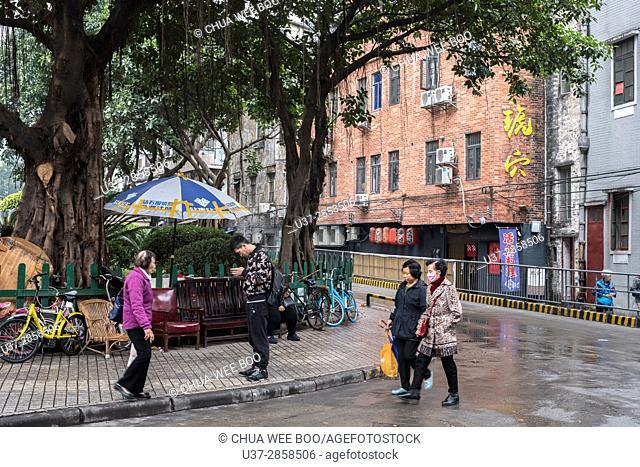 Guangzhou street scene, China