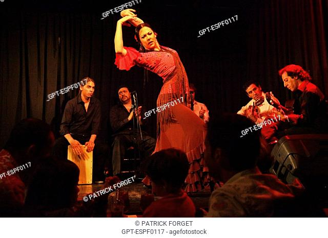 Flamenco dance at the Casa Patas, Madrid, Spain