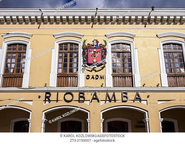 Municipality Building, Maldonado Park, Riobamba, Chimborazo Province, Ecuador