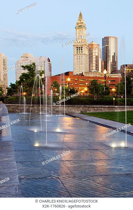 Boston cityscape in summer, Boston, Massachusetts, USA