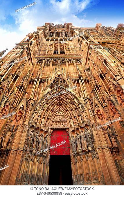 Notre Dame Cathedral in Strasbourg Alsace France