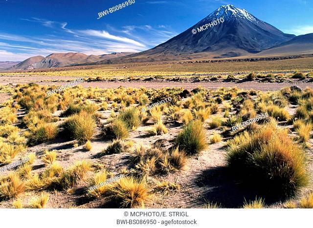 Licancabur volcanoe (5916 m) near San Pedro de Atacama, Chile, Atacama Desert