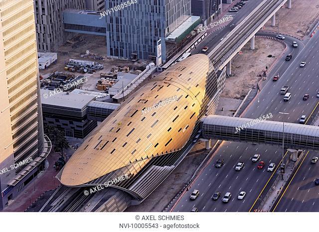 Metro station of the RTA, Dubai, United Arab Emirates