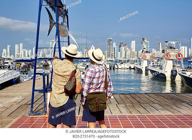 Seaport, Marina Santa Cruz, Bocagrande, Cartagena de Indias, Bolivar, Colombia, South America