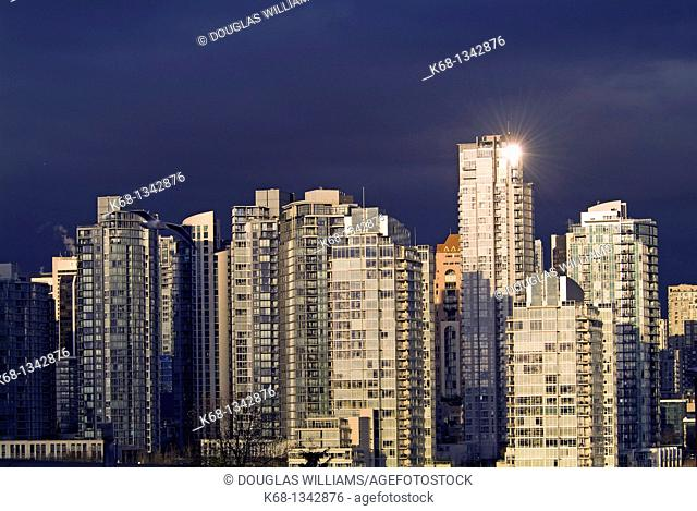 apartement buildings in downtown Vancouver, BC, Canada