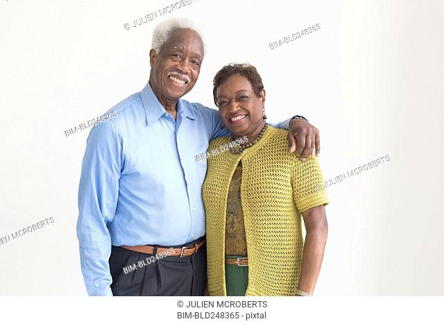 Portrait of smiling and older Black couple