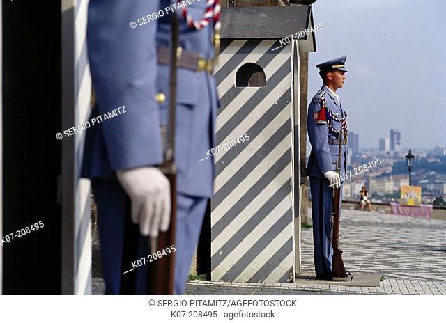 Guards at the main gate. Prague Castle. Prague. Czech Republic