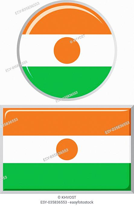 Niger round and square icon flag