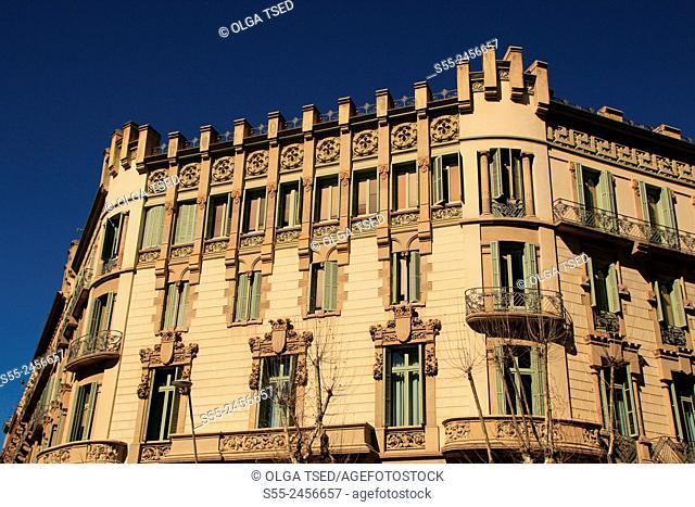 Modernist building, Barcelona, Catalonia, Spain