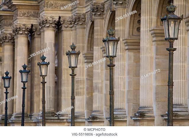 Louvre, Paris, Frankreich - Louvre, Paris, France - 08/08/2009