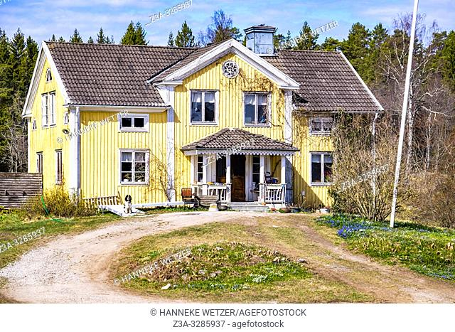 Old villa in the countryside of Sweden