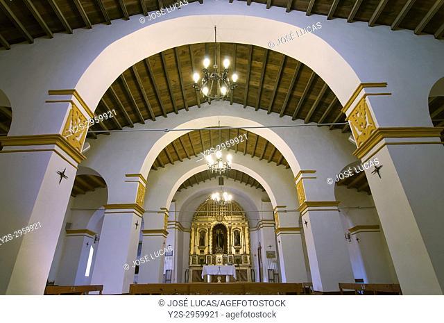 Hermitage of San Benito Abad (15th century) - interior, El Cerro del Andevalo, Huelva province, Region of Andalusia, Spain, Europe