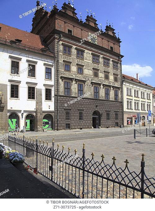 Czech Republic, Plzen, Pilsen, Republic Square, Renaissance City Hall,