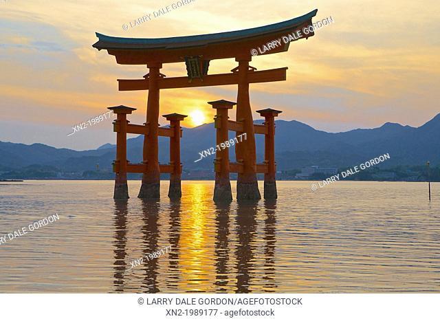 Itsukushima Shinto Shrine. Japan